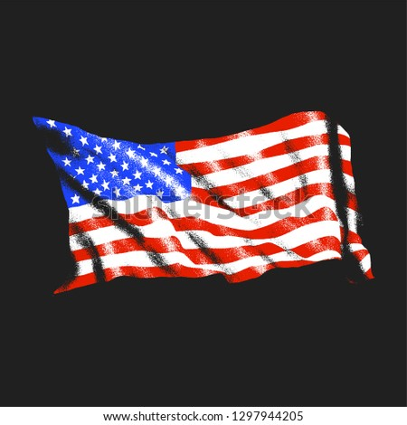 Waving American Flag Newest Royalty Free Vectors Imagericcom