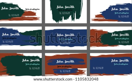 Amazing business card download free vector art stock graphics grungy brushed business cards banners vector set amazing painted dark horizontal background creative colourmoves