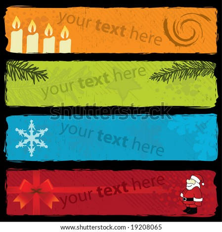 Grungy Christmas Banners