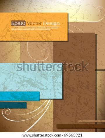 Grungy elegant concept background