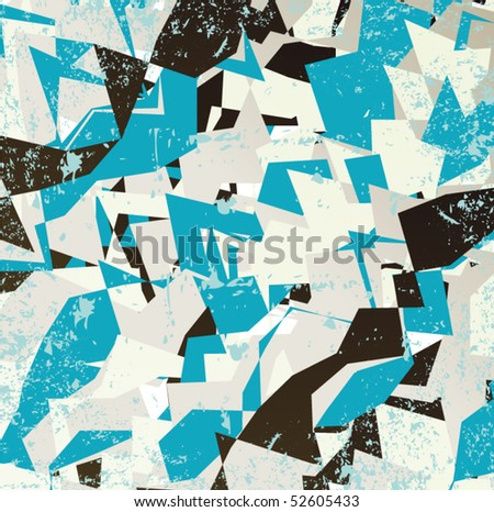 Grungy geometric background illustration design
