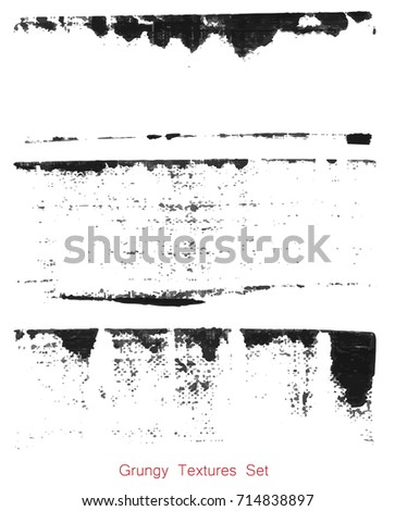 Grungy hand made texture over white background. Elements for your work and design. Eps10 #714838897
