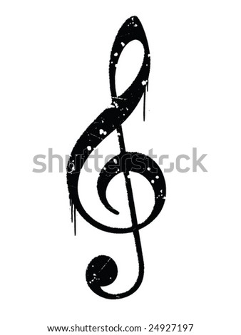 Grungy Musical Note