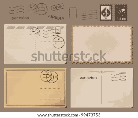 grungy postcards backgrounds