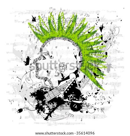 Grungy Punk/Emo Vector - stock vector