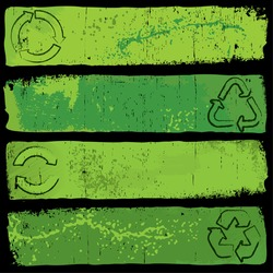 Grungy Recycle Banners