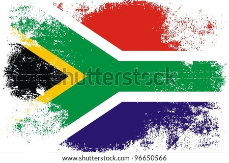 Grungy South African Flag