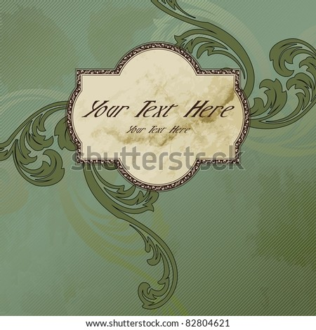 Grungy Victorian vintage label (eps10); jpg version also available