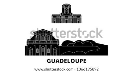 guadeloupe flat travel skyline