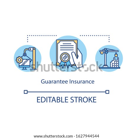 Guarantee insurance concept icon. Trust fund. Share holder. Corporate property. Fidelity investment idea thin line illustration. Vector isolated outline RGB color drawing. Editable stroke