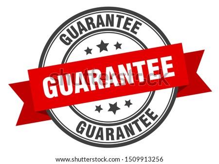 guarantee label. guarantee red band sign. guarantee Сток-фото ©