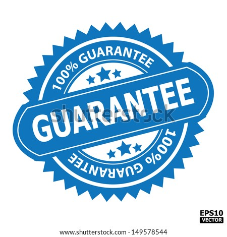 Guarantee stamp sticker tag label sign icon.-eps10 vector