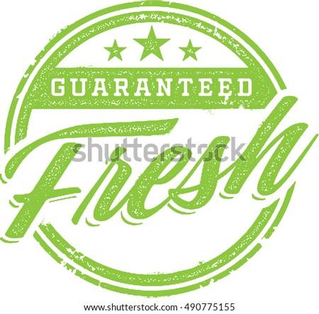Guaranteed Fresh Product Stamp