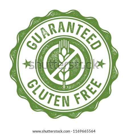 Guaranteed gluten free label/stamp