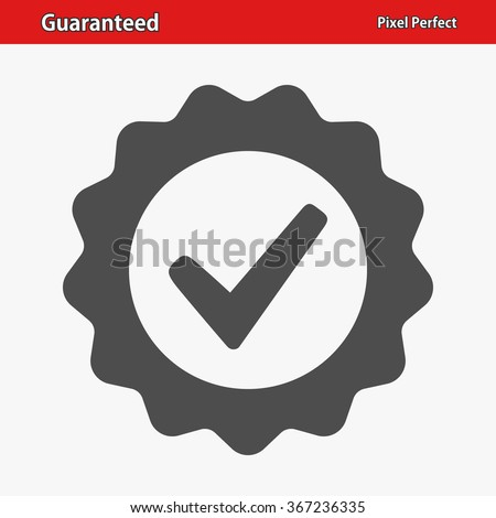 Guaranteed Icon. Professional, pixel perfect icons optimized for both large and small resolutions. EPS 8 format. Stock photo ©