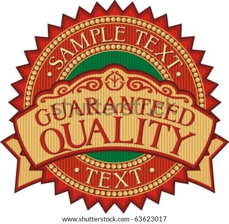 guaranteed quality badge - label (stamp)