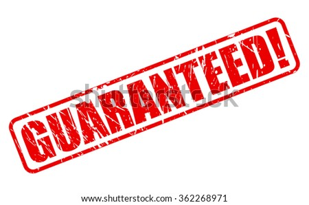 GUARANTEED red stamp text on white Stock photo ©