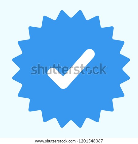Guaranteed stamp or verified badge. Verified icon stamp. Approved icon vector. Verification and checklist icon vector.