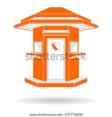 guard house logo  modern style