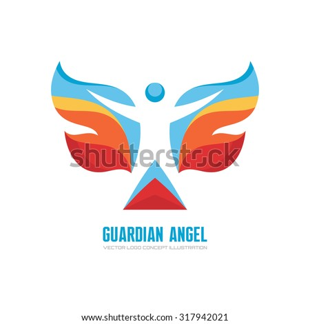 guardian angel   vector logo