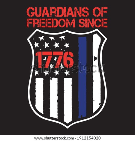 guardians of freedom since 1776  . t-shirt design. can you make any change this design.