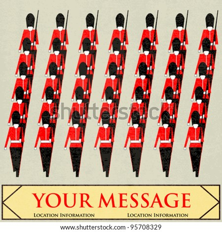 Guardsmen Marching Message, for a British Royal event or Jubilee