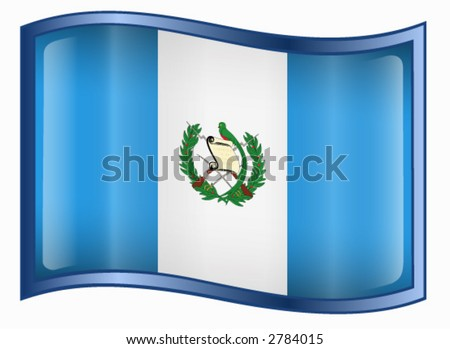 stock vector : Guatemala Flag icon