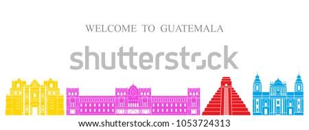 guatemala set. isolated...