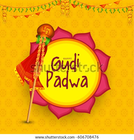 Gudi padwa background download free vector art stock graphics gudi padwa celebration greeting card background m4hsunfo
