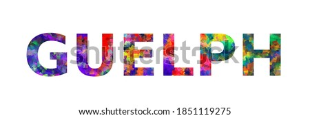 GUELPH. Colorful typography text banner. Vector the word guelph design