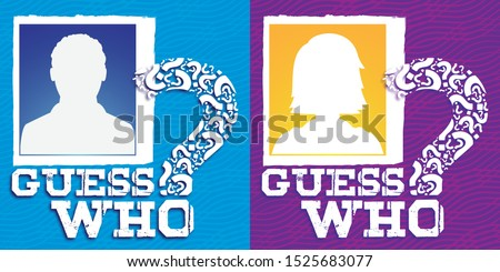 Guess who man and woman avatar banner