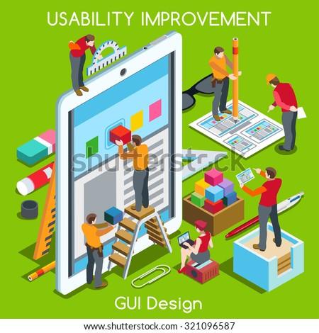 gui design tablet app ui ux