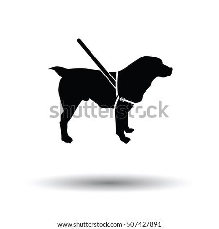 guide dog icon black