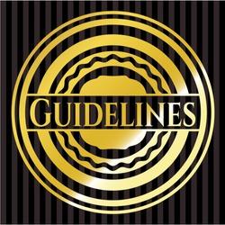 Guidelines golden badge or emblem