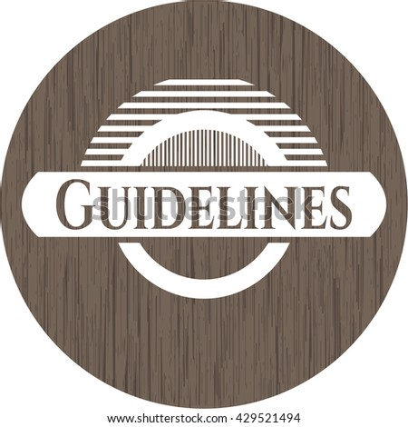 Guidelines retro wood emblem