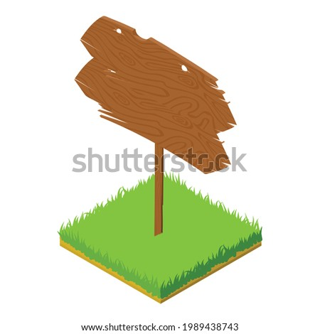 Guidepost icon. Isometric illustration of guidepost vector icon for web Stock photo ©