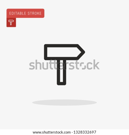 Guidepost Simple vector icon. Illustration symbol design template for web mobile UI element. Perfect color modern pictogram on editable stroke. Guidepost icons for your business project
