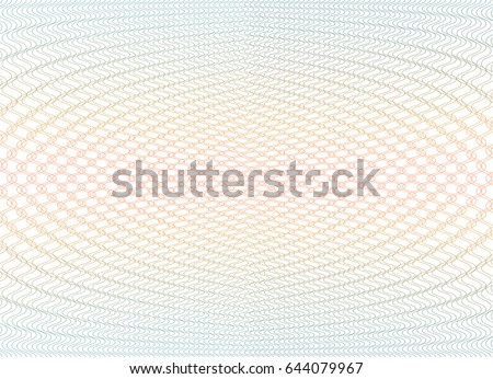Guilloche background texture - gradient zig zag. For certificate, voucher, banknote, voucher, money design, currency Vector illustration