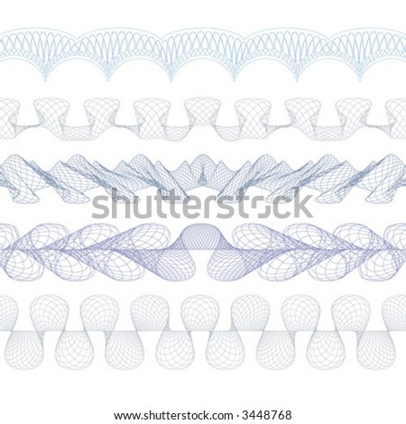 guilloche decorative borders ME_BR_011 - stock vector