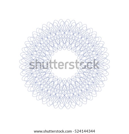 guilloche decorative rosette