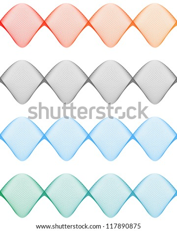 Guilloche design elements for certificate, diploma, background, seal or card. Vector