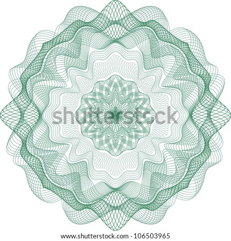 Guilloche Element for Certificate or Diploma, Currency and Money design / vector / All lines are easy editable