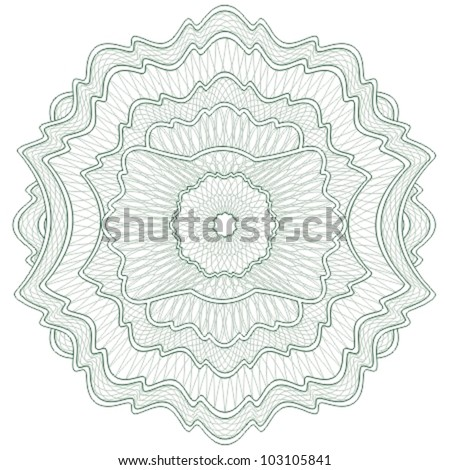Guilloche elements for certificate or diploma / currency and money design / vector / CMYK color / All lines and colors are easy editable