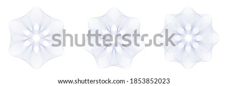 Guilloche Pattern Rosette for certificate, diploma, voucher, currency,play money or other security papers.  Foto d'archivio ©