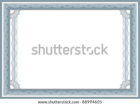 Guilloche vector border for certificate