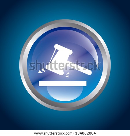 guilty button over blue background. vector illustration