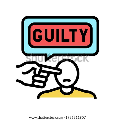 guilty law color icon vector. guilty law sign. isolated symbol illustration Stock photo ©