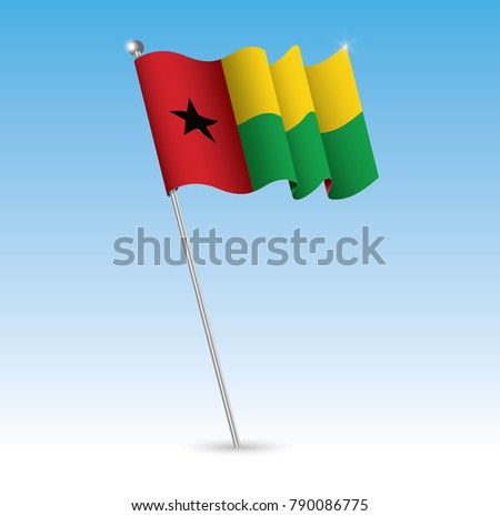 guin bissau waving flag in the