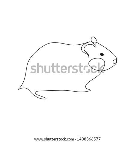 guinea pig or hamster logo one