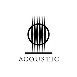 guitar acoustic music symbol logo design inspiration
